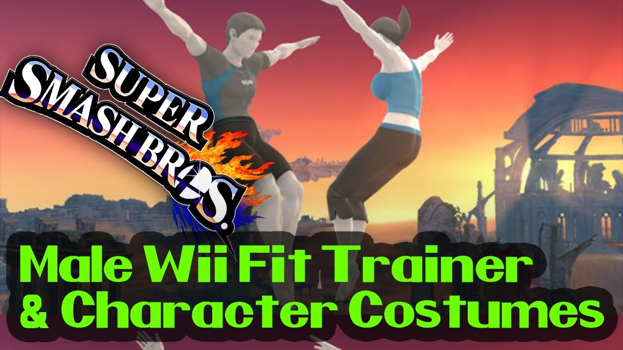 Male Wii Fit Trainer and Character Costumes in SSB4! - YouTube