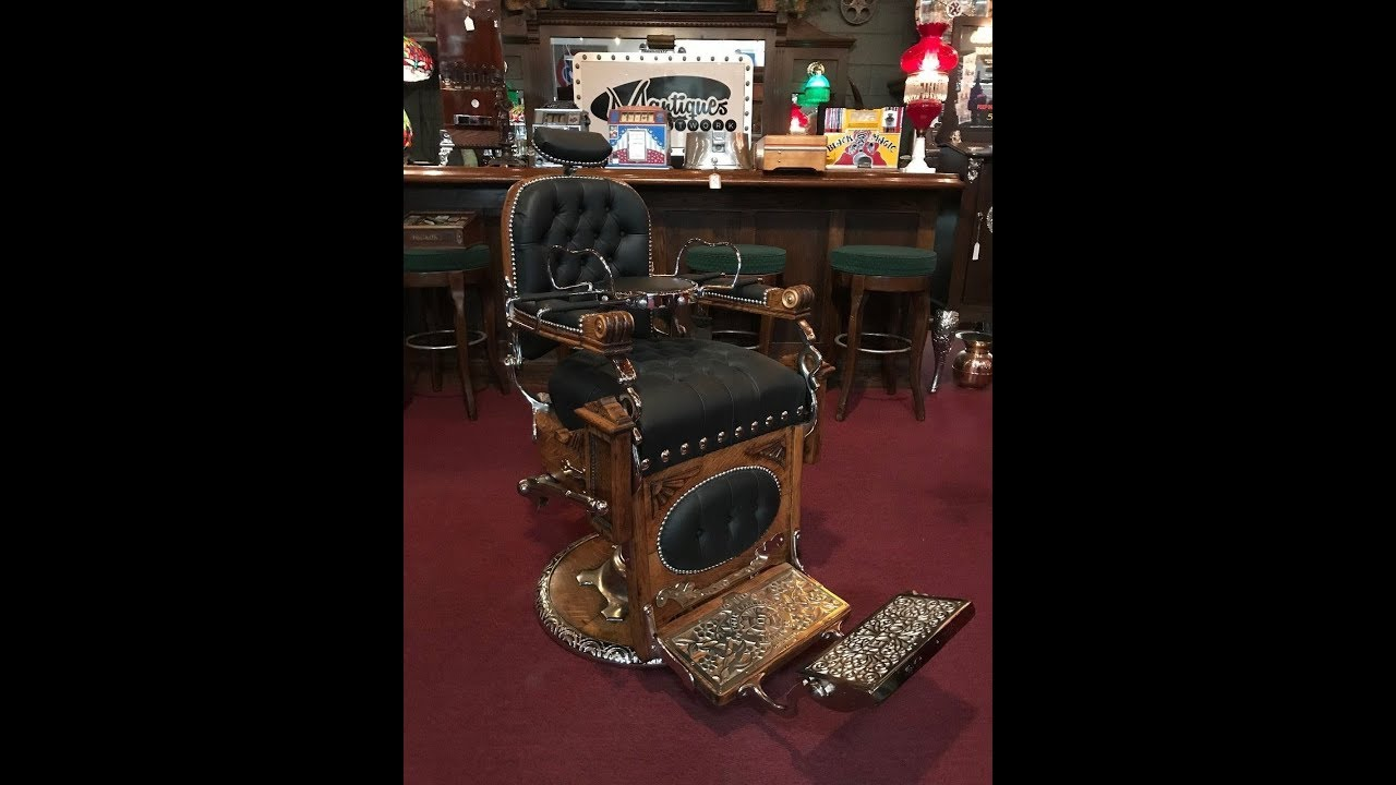 1800 S Koken Wood Barber Chair With Child S Booster Seat Sold Youtube