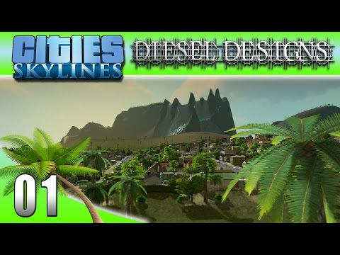 Cities: Skylines: EP01: Tropical Island City! (City Building Series 60FPS)