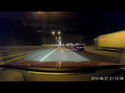 Moscow and Moscow region night driving