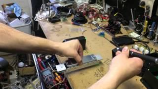 Laser sensor set up for mag lock