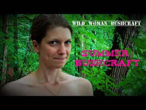Summertime Bushcraft - Vanessa Blank - Wild Woman Bushcraft - Bathe in the Forest Creek