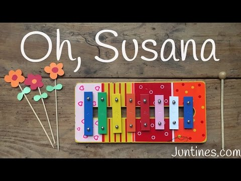 Tocar en el xilófono la canción de  Oh Susana