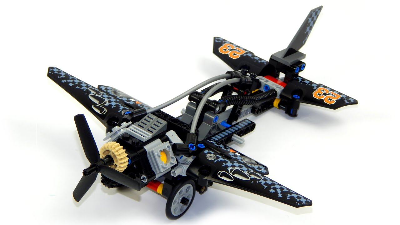 Lego Technic 42002 Model B Plane Speed Build And Review - YouTube