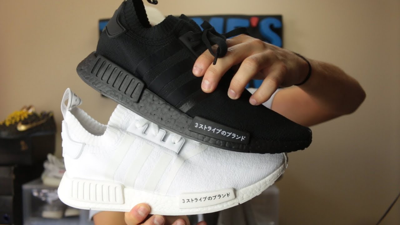 "the latest f379d 84444 JAPAN NMD R1 PK ""TRIPLE BLACK"" AND ""TRIPLE WHITE"""