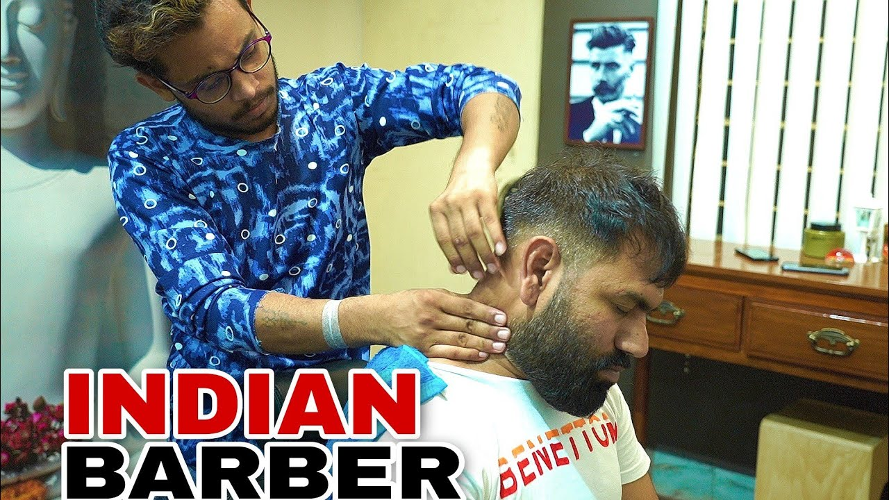 ASMR Head Massage Therapy By INDIAN BARBER  RAJEEV 💈 EYE, NECK, BACK MASSAGE.