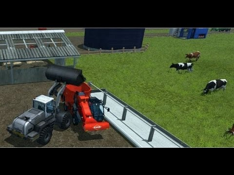 Farming Simulator 2013 (Feeding cows) HD