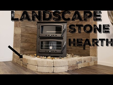 Wood Stove Install - Hearth Made From Landscape Stones