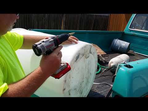 Add A Spigot To A Plastic Water Barrel In Just A Couple Minutes! Such A Useful Thing To Have.