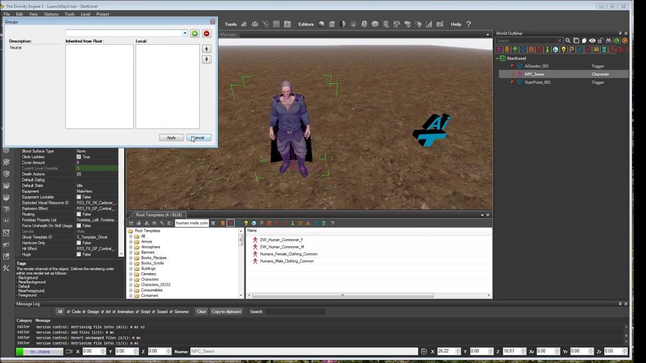 02 - Placing and Modifying an NPC