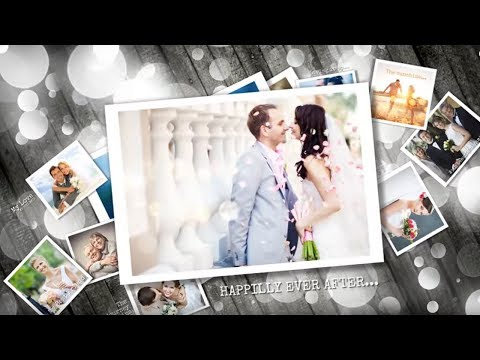 wedding after effects slideshow template - ideal for photo presentation