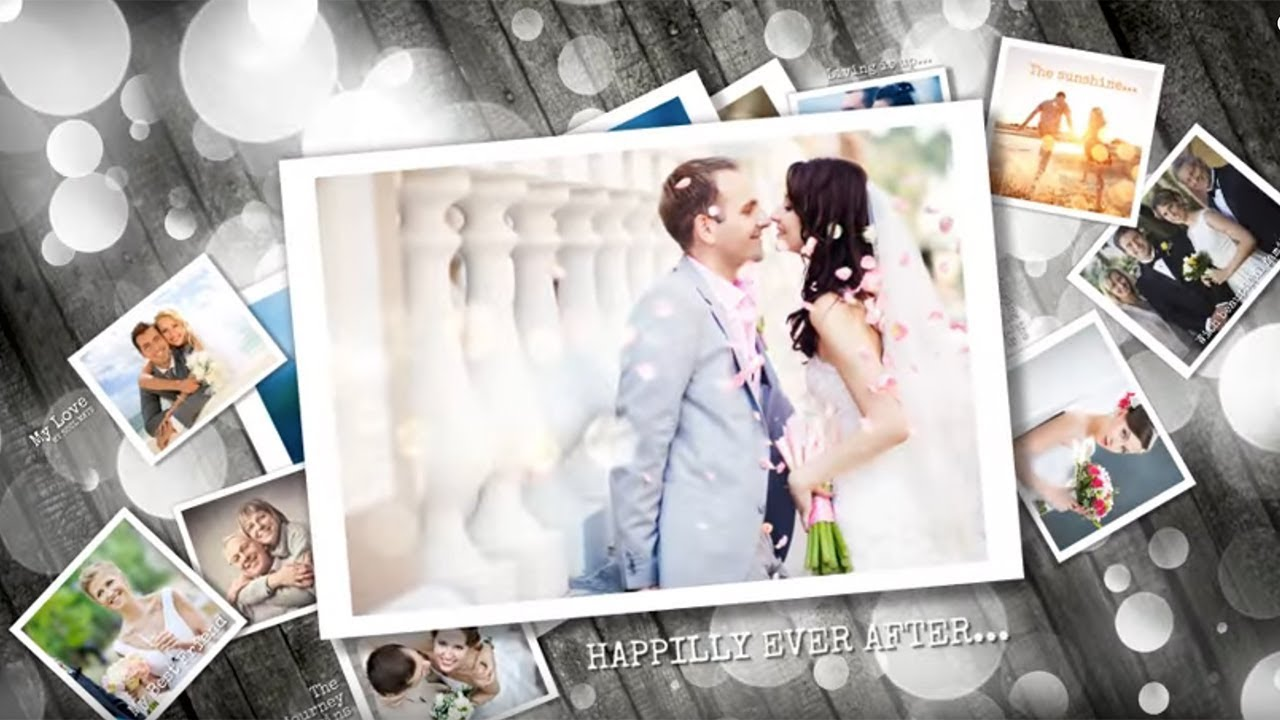 wedding after effects slideshow template - ideal for photo, Presentation templates