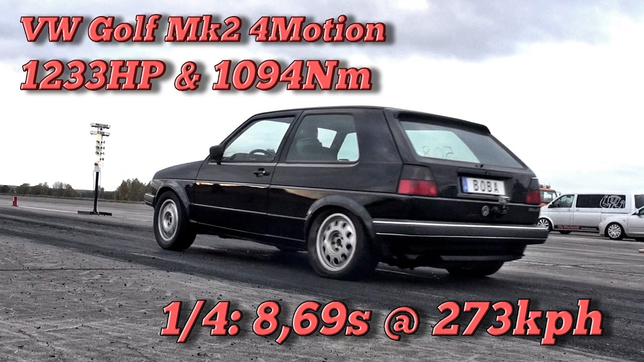vw golf mk2 4motion 1233hp 8 69s 273kph in finsterwalde 2016 youtube. Black Bedroom Furniture Sets. Home Design Ideas