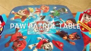 PAW PATROL TABLE & ORGANIZER REVIEW