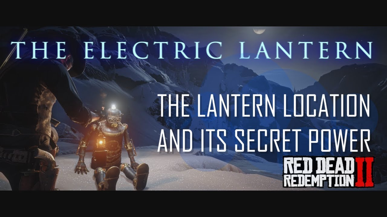 The Electric Lantern Location And Its SECRET Power in RDR2 - Red Dead Redemption 2 Easter Egg