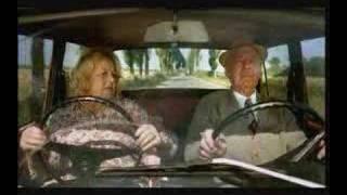Lustig Oma im Auto