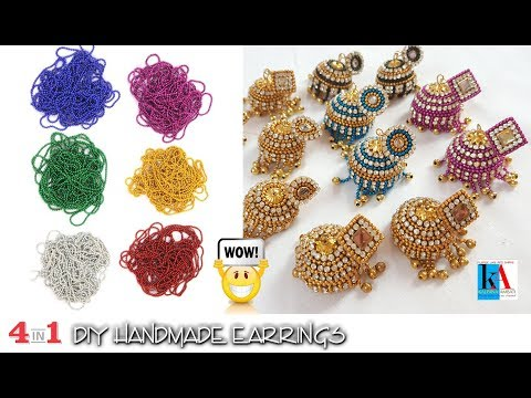 4 easy and awesome quilling earrings for girls | DIY | Stud Earring Design | kalpana ambati