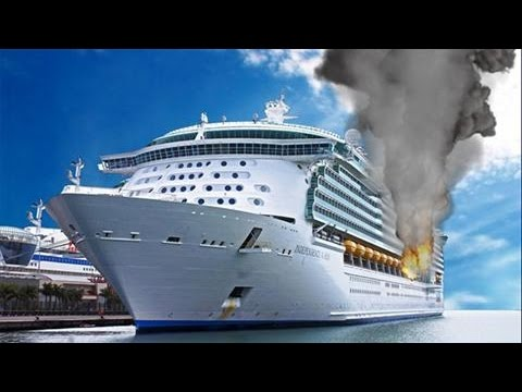 Cruise Ship on fire at Jamaica