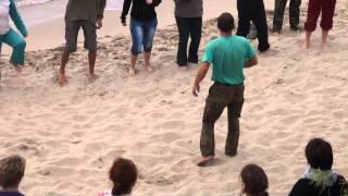 Кот Баюн. Утренняя здрава на пляже (08.09.2013)