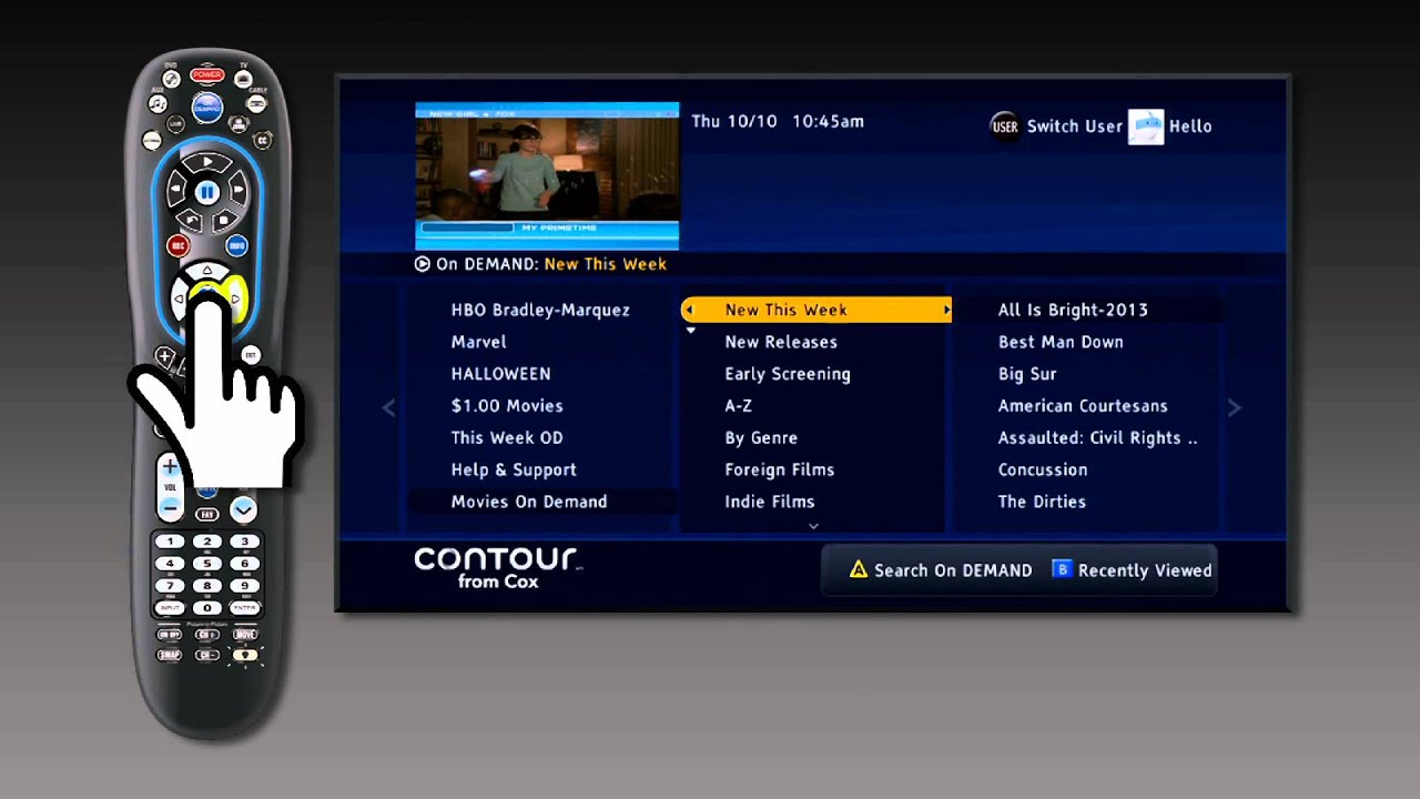 how to navigate on demand contour from cox youtube rh youtube com Cox Cable Remote cox cable dvr user guide