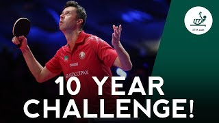 ITTF Table Tennis stars do the 10 Year Challenge!