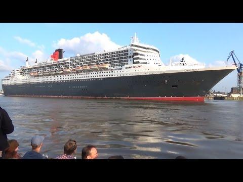 QUEEN MARY 2 Docking in Hamburg B&V Dock 17, 27.05.2016