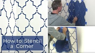 How To Stencil A Corner By Cutting Edge Strencils
