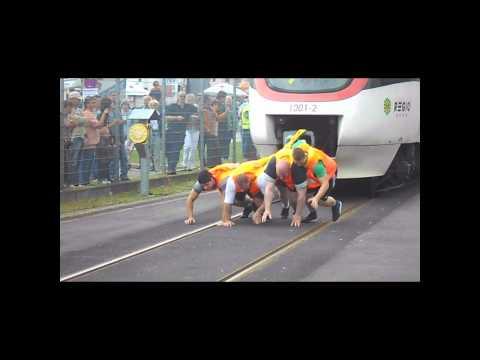 Regio Bahn ziehen 60 Tonnen auf 35m