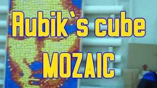 300 Rubik`s cubes | mosaic MONA LISA