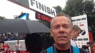 Jens Werner efter veloverstået Copenhagen Half marathon