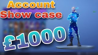 Fortnite £1000+ stacked account Show case *GalaxySkin* account.