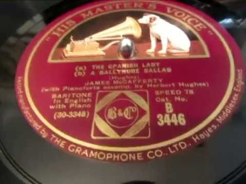 Spanish Lady - Ballynure Ballad - James McCafferty - Irish Traditional - 78 rpm