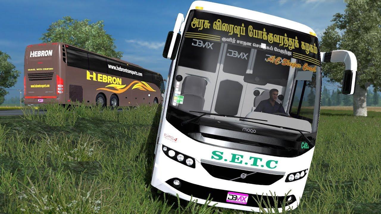 Setc Sleeper Bus Overtaking Fail Reckless Driving Euro Truck