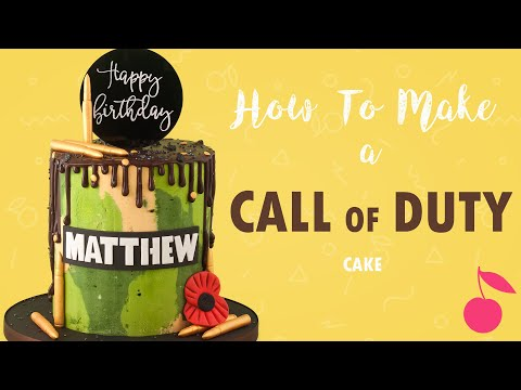 Call Of Duty Camouflage Cake Tutorial | How To | Cherry School
