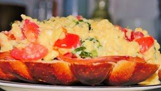 Самый ВКУСНЫЙ Завтрак ЗА 5 МИНУТ. Необычная  Яичница С Тостом. Домашние рецепты.