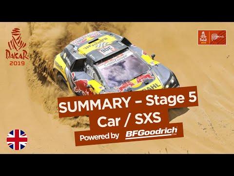Summary - Car/SxS - Stage 5 (Tacna / Arequipa) - Dakar 2019