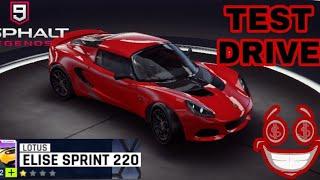 Asphalt 9 : Lotus Elise Sprint 220 ||| TEST DRIVE |||