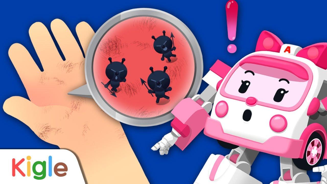 폴리와 세균 씻기 | 자동차 세수하기 놀이 | 폴리 습관놀이 5화 | 로보카폴리 | KIGLE TV | 키글TV