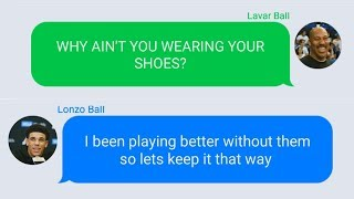 Lavar Ball Texting Lonzo Ball For Not Wearing ZO2 Shoes