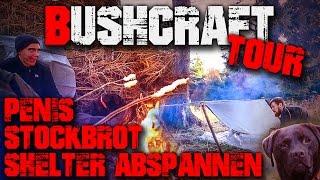 (3/3) Bushcraft Tour Übernachtung Survival Mattin Harz (german/deutsch) Trekking Shelter Deutschland
