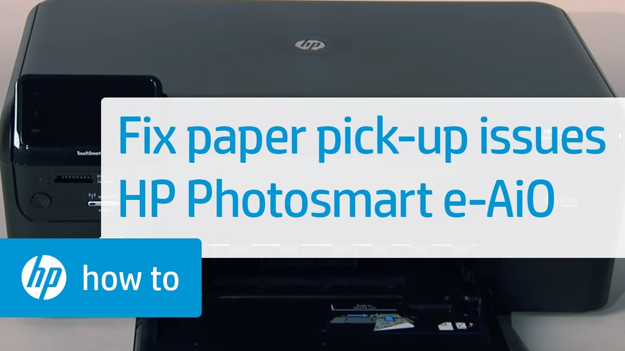Fixing Paper Pick-Up Issues - HP Photosmart e-All-in-One Printer (D110a) |  HP Photosmart | HP