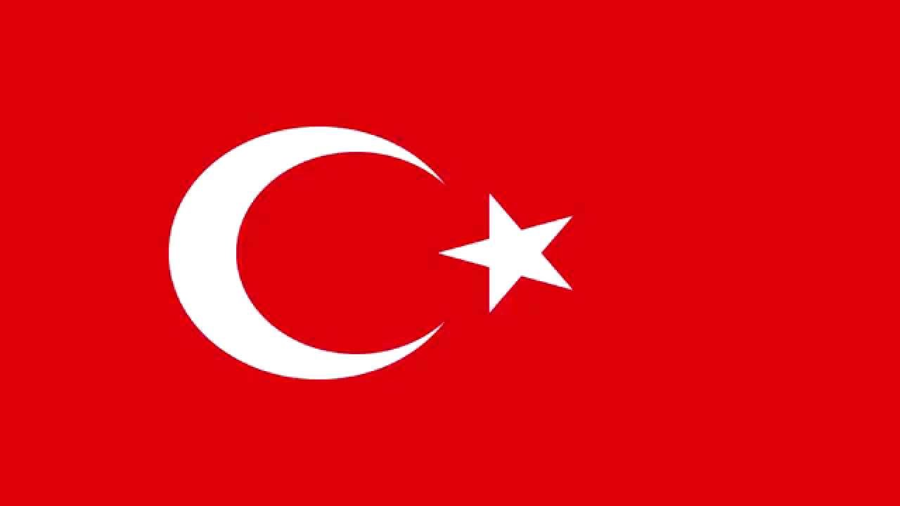 Bandera E Himno Nacional De Turquía Flag And National