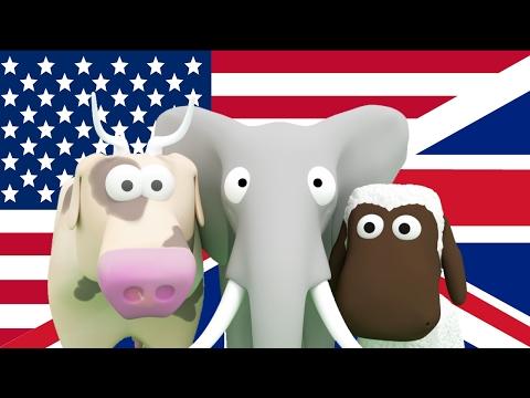 Lär dig Engelska för barn! Lär barnen djur, fordon, siffror på Engelska - ESL - Busigt Lärande