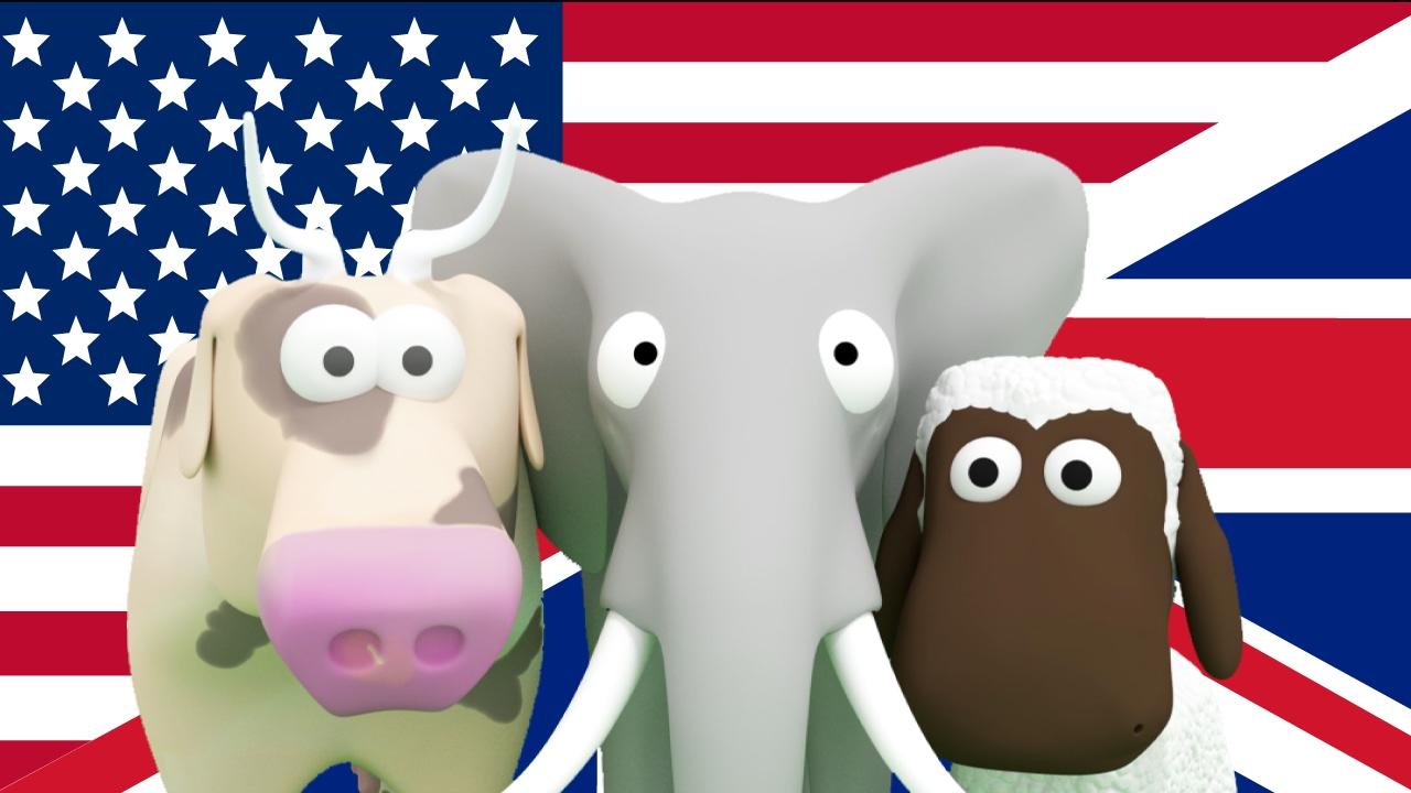 Lär dig Engelska för barn! Lär barnen djur, fordon, siffror på Engelska ESL Busigt Lärande