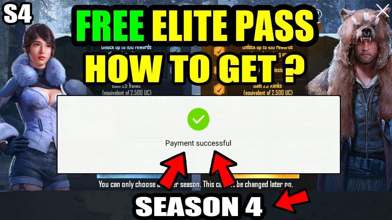 HOW TO GET FREE NEW SEASON 4 ELITE ROYAL PASS ? How to Get ELITE ROYAL Pass  For Free IN PUBG MOBILE