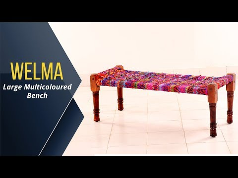 wooden-benches-:-buy-welma-large-multicoloured-bench-online-at-wooden-street