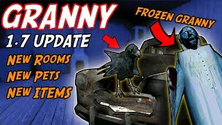 Freezing Granny and HER *NEW* PET BIRD!?!?! (1.7 UPDATE)  | Granny The Mobile Horror Game