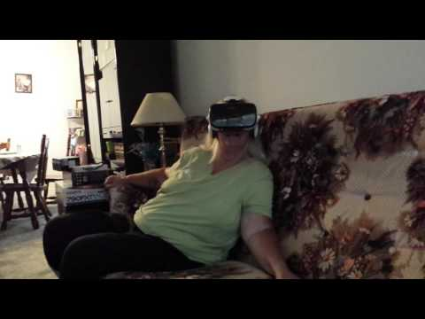 MOM TRIES VR ROLLERCOASTER FOR THE FIRST TIME!