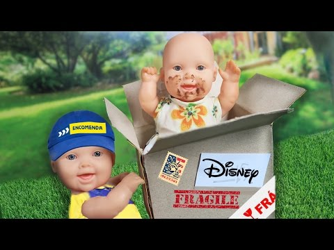 Me Enviei Para a Disney pelo Correio?! - Lilly Doll