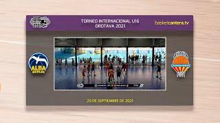 U16M - ALBA BERLIN  vs VALENCIA BASKET.- Torneo Internacional Cadete Villa de La Orotava 2021